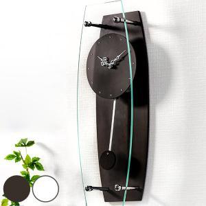 掛け時計 ガラス時計 ラインストーン 振り子クロック ( 壁掛け時計 時計 インテリア 振り子時計 ) interior-palette