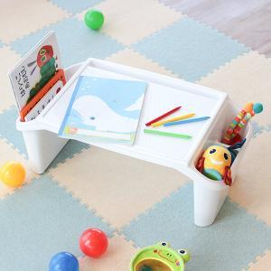 机 子供用 デスク テーブル 軽量 チャイルドデスク プラス プラスチック製 日本製 ( 子供 子ども用 キッズ 幼児 白 ホワイト 滑り止め )|interior-palette