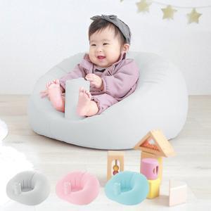 ベビーチェア リッチェル ふかふかベビーソファ ビニール 椅子 赤ちゃん ( 折りたたみ イス 空気入れ 楽 コンパクト ご飯 )|interior-palette