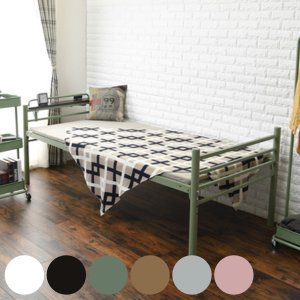 シングルベッド 宮棚付 ワイドロングベッド スチールフレーム 高さ調節機能 ( ベッド ベッドフレーム シングル 収納 フレーム )|interior-palette