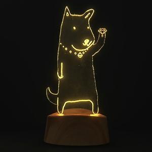 アクセサリースタンド ネックレス LED acrysta イヌ ( アクセサリー 収納 眼鏡スタンド...