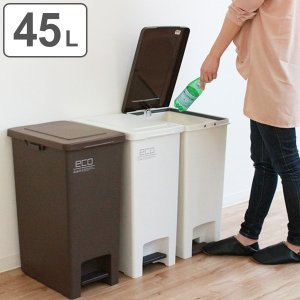 ゴミ箱 45リットル ペダル ふた付き 分別 ごみ箱 シンプル ダストボックス ( キッチン フタ付き 45L ペール 分別ごみ箱 分別ゴミ箱 おしゃれ )|interior-palette
