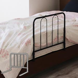 ベッドガード 高さ45cm スチール製 ベッドフェンス 布団 ずれ防止 落下防止 ハイタイプ ( ベッドフェンス ベッド柵 手摺り ガード )|interior-palette