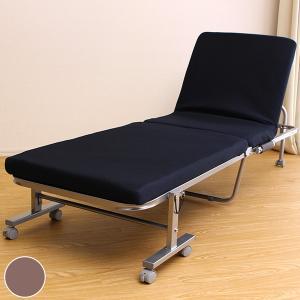 折りたたみベッド セミシングル スチールフレーム 幅65cm ( ベッド 折りたたみ リクライニングベッド 簡易ベッド スリム )|interior-palette
