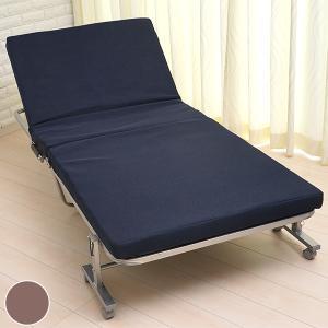 折りたたみベッド シングル スチールフレーム 幅94cm ( ベッド 折りたたみ リクライニングベッド 簡易ベッド )|interior-palette