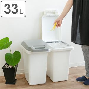 ゴミ箱 33L 抗菌 防臭 パッキン 密閉 臭わない ふた付き ロック機能 ハンドル 抗菌ペール ごみ箱 ダストボックス ( キッチン 生ゴミ おむつ 約 30 角型 )|interior-palette