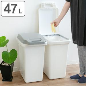 ゴミ箱 47L 抗菌 防臭 パッキン 密閉 臭わない ふた付き ロック機能 ハンドル 抗菌ペール ごみ箱 ダストボックス ( キッチン 生ゴミ おむつ 約 50 角型 )|interior-palette