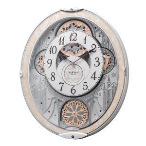 からくり時計 スモールワールドノエルNS ホワイト 電波時計 48曲収録 時計 ( 掛時計 壁掛け からくり ) interior-palette
