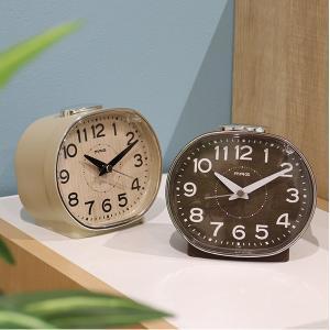 目覚まし時計 アナログ 光 ホリー 時計 置き時計 アラーム時計 ( 木目調 おしゃれ アラーム 置時計 ) interior-palette