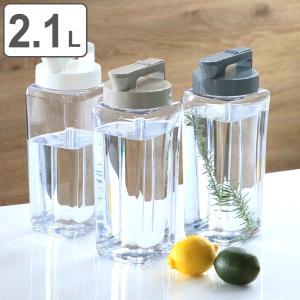 冷水筒 ピッチャー 2.1L 麦茶ポット 耐熱 横置き 縦置き 洗いやすい 角型 防汚加工 日本製 K-1280 ( 麦茶 ポット 角 熱湯 冷茶 ジャグ ドアポケット )|interior-palette