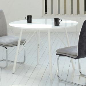 ダイニングテーブル 幅105cm 丸 円型 Fresco フレスコ ダイニング テーブル 鏡面 机 ( 食卓テーブル 丸テーブル 四人掛け 食卓 4人掛け 食卓机 ホワイト ) interior-palette