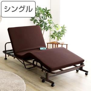 電動 リクライニングベッド シングル 折り畳み ベッド 角度調整 マットレス ベット ( 電動ベッド 電動リクライニング 折りたたみベッド 高床 コンパクト )|interior-palette