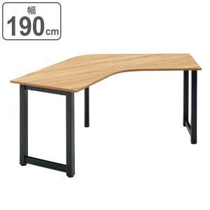 ブーメランテーブル 幅190cm デスク ミーティングテーブル 会議テーブル オフィス 木目調 ( オフィステーブル 会議用テーブル ミーティング 会議 幅 190 机 ) interior-palette