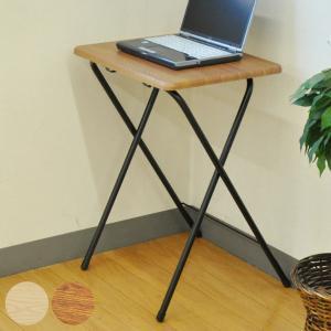 折りたたみ テーブル 幅50cm 高さ70cm 折りたたみテーブル デスク 机 木目調 ( 折り畳みテーブル コンパクト 軽量 折り畳み パソコンデスク 奥行40 ) interior-palette