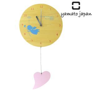 掛け時計 木製 ヤマト工芸 yamato MOBILE CLOCK 幸運を呼ぶ天使とハート|interior-palette