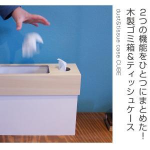 【48時間限定クーポン】ティッシュケース ゴミ箱 ヤマト工芸 yamato dust&tissue case CUBE|interior-palette|02