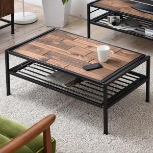 センターテーブル ローテーブル GRANT 天然木 スチールフレーム 幅90cm ( テーブル コーヒーテーブル 木製天板 アイアンフレーム )|interior-palette