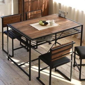 ダイニングテーブル 食卓 GRANT 天然木 スチールフレーム 幅120cm ( テーブル 食卓テーブル リビングテーブル ダイニング )|interior-palette