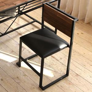 ダイニングチェア 椅子 GRANT 天然木 スチールフレーム 座面高44cm ( チェア チェアー ダイニングチェアー スタッキングチェア )|interior-palette