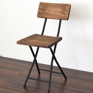 折りたたみチェア 椅子 GRANT 天然木 スチールフレーム 座面高45.5cm ( チェア チェアー 折りたたみチェアー 折りたたみ椅子 )|interior-palette
