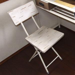折りたたみチェア 椅子 CHROME 天然木 スチールフレーム 座面高45.5cm ( チェア チェアー 折りたたみチェアー 折りたたみ椅子 )|interior-palette