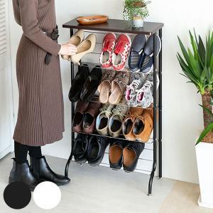 天板付きシューズラック 薄型 下駄箱 靴箱 収納|interior-palette