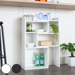 カウンター下収納 薄型 伸縮ラック 幅40〜72cm ( カウンター下 カウンター スライドラック 伸縮式 )|interior-palette