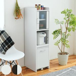 スリムラック 食器棚 すき間収納 高さ120cm 扉付き ( キッチン収納 キッチンラック すきま収納 )|interior-palette