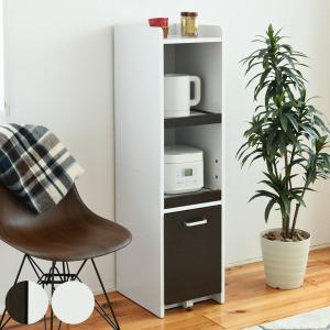 キッチンスリムラック 隙間ミニキッチン 高さ120cm ( キッチン収納 食器棚 カップボード すきま収納 )|interior-palette