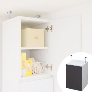 キッチン収納 上置き棚 鏡面仕上 Alnair 幅35cm ( 壁面収納 戸棚 上棚 )|interior-palette