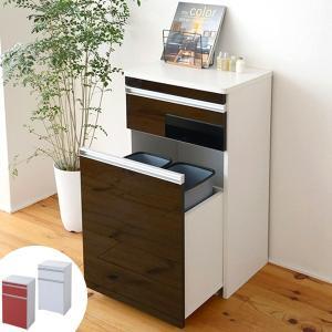 カウンターワゴン ダストボックス付 Parl(パール) 幅50cm ( キッチン収納 キッチンカウンター ゴミ箱 )|interior-palette