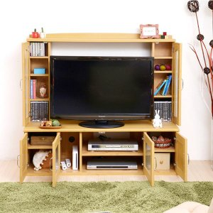 テレビラック AVラック テレビ台 テレビボード 壁面収納タイプ 北欧風 Lycka Land リュッカ ランド 幅130cm TV台 AVラック ハイタイプ|interior-palette|05