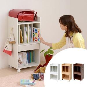 ランドセルラック 子供部屋 収納棚 引出し付 木製 幅45.5cm ( 本棚 多目的ラック スリム )|interior-palette