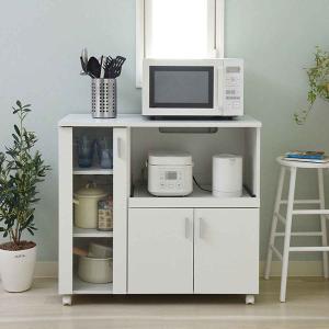 カウンターボード 戸棚 キッチン収納 SIM 幅90cm ( キッチンカウンター レンジ台 )|interior-palette