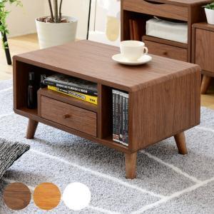 ローテーブル 引き出し付 北欧風 Pico 幅60cm ( センターテーブル テーブル コンパクト 小さめ 木製 ナチュラル ) interior-palette