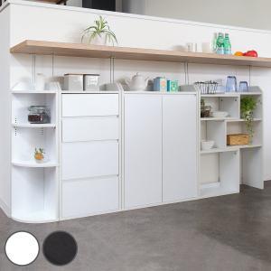 カウンター下収納 薄型 フルセット 収納棚 ( カウンター下 カウンター 窓下収納 収納セット )|interior-palette