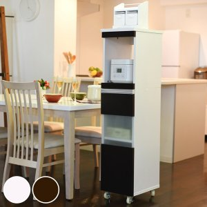 家電ラック ハイタイプ スリム すき間収納 幅30cm ( 隙間収納 キッチン収納 キッチンラック )|interior-palette