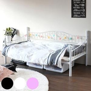 シングルベッド アイアンフレーム 継脚 デイベッド ( ベッド ソファベット ベット レトロ調 家具 )|interior-palette