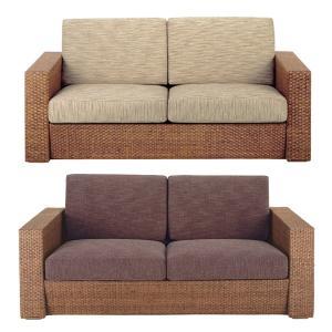 籐 ソファ 2人掛け ラタン製 幅172cm ( アジアン家具 籐家具 ソファー )|interior-palette