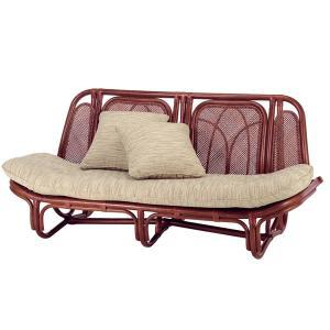 籐 カウチソファ ラタン製 マホガニーブラウン 幅163cm ( アジアン家具 籐家具 ソファ ソファー )|interior-palette