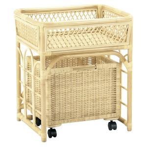 籐 ランドリーボックス バスケット キャスター付 幅56cm ( ラタン家具 アジアン家具 ランドリーラック ランドリーチェスト )|interior-palette