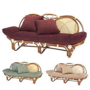 籐 カウチソファ ラタン製 アンバーブラウン 幅158cm ( アジアン家具 籐家具 ソファ ソファー )|interior-palette