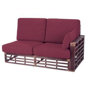 籐 ソファ 2人掛け ラタン製 幅160cm ( アジアン家具 ラタン家具 ソファ )|interior-palette