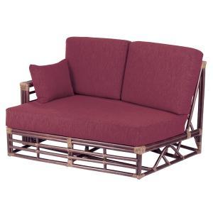 籐 カウチソファ 右肘付 ラタン製 幅150cm ( アジアン家具 ラタン家具 ソファ )|interior-palette