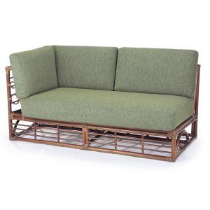 籐 ソファ 2人掛け 右肘付 ラタン製 幅150cm ( アジアン家具 籐家具 ソファー )|interior-palette