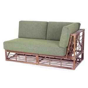 籐 ソファ 2人掛け 左肘付 ラタン製 幅150cm ( アジアン家具 籐家具 ソファー )|interior-palette
