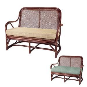 籐 ソファ 2人掛け ラタン製 ラブチェアー 幅106cm ( アジアン家具 籐家具 ソファー )|interior-palette