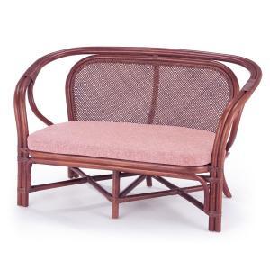 籐 ソファ 2人掛け ラタン製 ラブチェアー 幅118cm ( アジアン家具 籐家具 ソファー )|interior-palette