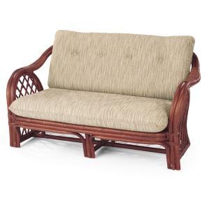 籐 ソファ 2人掛け ラタン製 ラブチェアー 幅128cm ( アジアン家具 籐家具 ソファー )|interior-palette