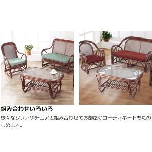 籐 ガラステーブル ラタン製 幅89cm ( アジアン家具 ラタン家具 テーブル ) interior-palette 03